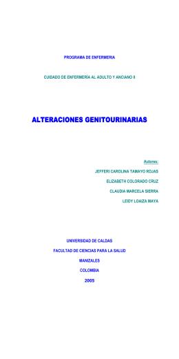 ALTERACIONES GENITOURINARIAS