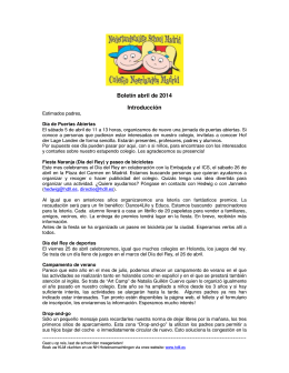Boletín de abril 2014