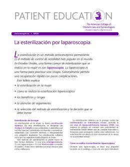 Patient Education Pamphlet, SP035, La esterilización por