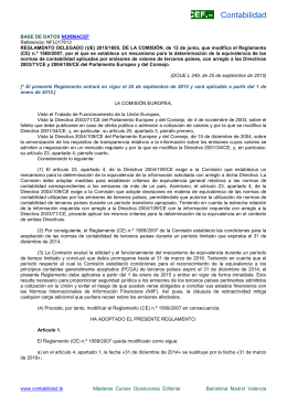 Reglamento Delegado (UE) 2015/1605 de la Comisión