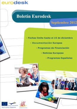 Boletin información Eurodesk 2012