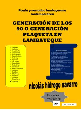 Generación Plaqueta de los 90 en Lambayeque