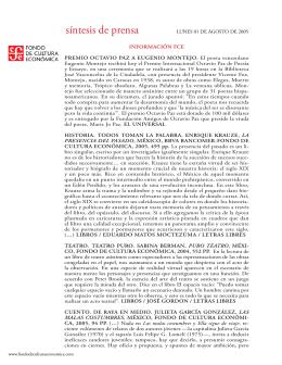 010805 LUNES.indd - Fondo de Cultura Económica