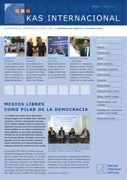 KAS Internacional 1/2011 - Konrad-Adenauer