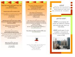 ADAP ADAP es un programa del estado de California y Federal