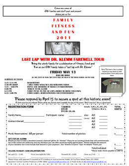 FAMILYFITNESSANDFUN 2 0 1 1 LAST LAP WITH DR. KLEMM