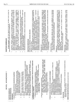 Anexo I Currículo del Nivel Avanzado 1