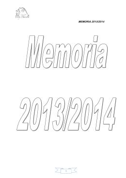 Memoria 13-14 - CEIP Virrey Morcillo