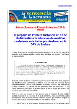 Boletín 21 de noviembre de 2014
