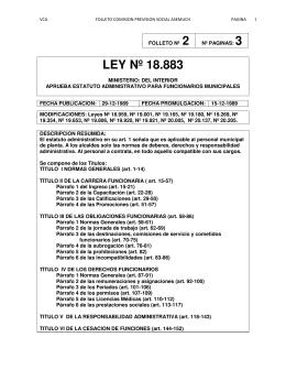LEY Nº 18.883
