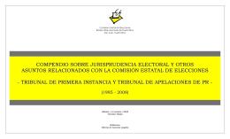 Prudencia Electoral y Otros Asuntos Relacionados con la CEE