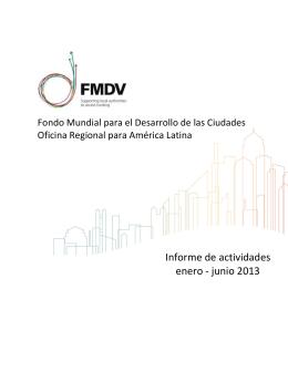 Informe de actividades FMDV Amlat