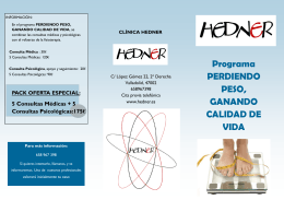 Programa PERDIENDO PESO, GANANDO CALIDAD DE VIDA