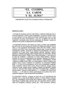 """""""EL CUERPO, LA CARNE Y EL ALMA"""""""