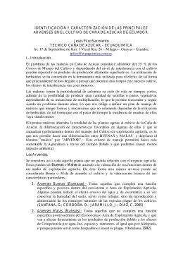 IDENTIFICACIÓN Y CARACTERIZACIÓN DE LAS