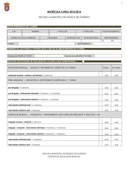 Descargue el formulario de matrícula