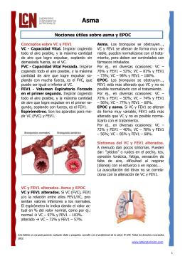 Nociones útiles sobre asma y EPOC