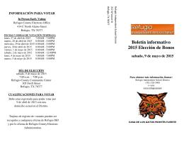 Boletín informativo 2015 Elección de Bonos