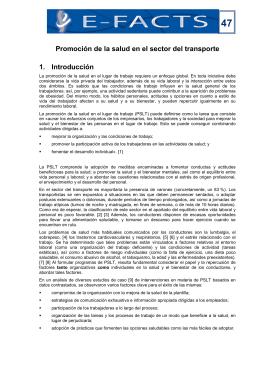 47 Promoción de la salud en el sector del transporte 1. Introducción