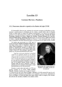 Lección 13. Lorenzo Hervás y Panduro