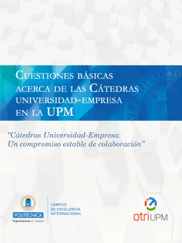 Folleto de Cátedras Universidad
