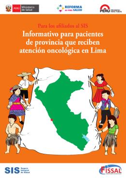 Informativo para pacientes de provincia que reciben