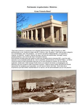 Patrimonio Arquitectónico Histórico inventario Nº