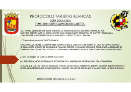 Clase nº 4 Protocolo de actuación Tarjeta Blanca Coca-Cola