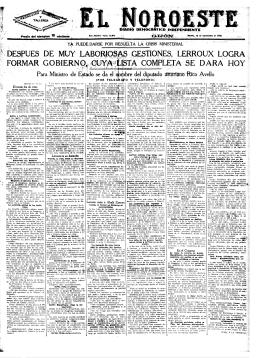 El Noroeste 19330912 - Historia del Ajedrez Asturiano