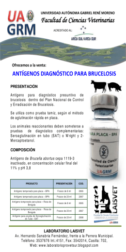folleto antigeno bru.. - Facultad de Ciencias Veterinarias