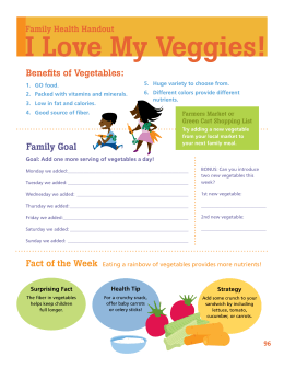 I Love My Veggies! - Live Well Omaha Kids