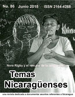 Revista de Temas Nicaragüenses No. 86