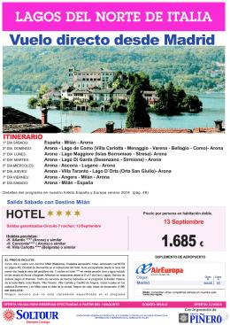 zj163cx lagos del norte de Italia 30agosto y 13sep desde mad