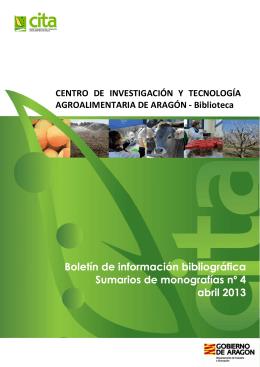 Boletín de información bibliográfica Sumarios de