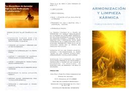 Vivencias 2.0 folleto Harmonizacion Karma