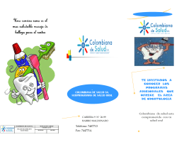 VOLANTE SALUD ORAL - Colombiana de Salud SA