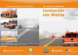 Conducción con Niebla - Agencia Nacional de Seguridad Vial