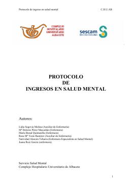 protocolo de ingresos en salud mental
