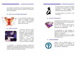 Folleto informativo Histerosalpingografía
