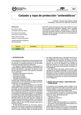 """NTP 887: Calzado y ropa de protección """"antiestáticos"""""""