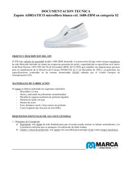 DOCUMENTACION TECNICA Zapato ADRIATICO microfibra blanco