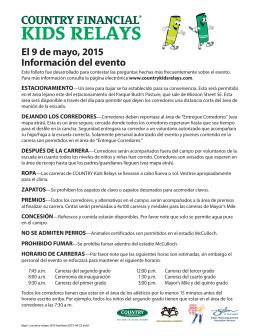 El 9 de mayo, 2015 Información del evento