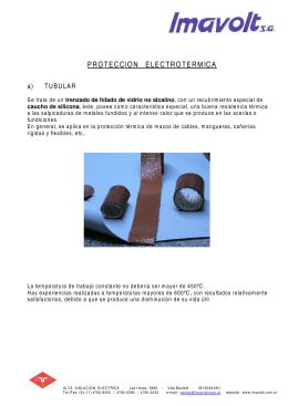 folleto PROTECCIONES ELECTROTERMICAS
