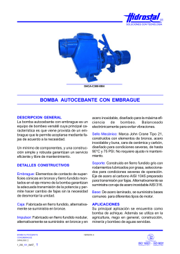 FOLLETO-BOMBAS AUTOCEBANTES CON EMBRAGUE