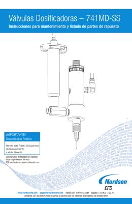 Válvulas Dosificadoras – 741MD-SS