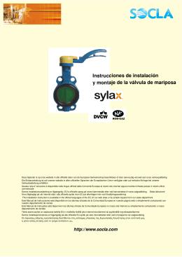 Instrucciones de instalación y montaje de la válvula de