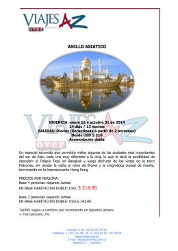 ANILLO ASIATICO - Agencia de viajes