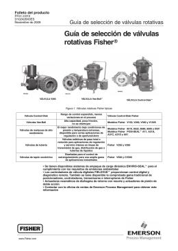 Guía de selección de válvulas rotativas