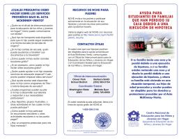 ayuda para estudiantes en familias que han perdido su casa debido