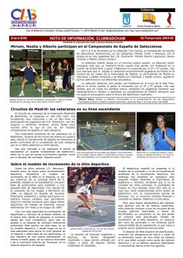 Enero 2005 - Club Bádminton Chamartín